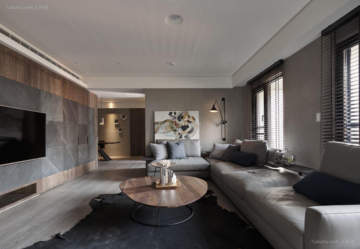 休闲惬意舒适客厅装修效果图
