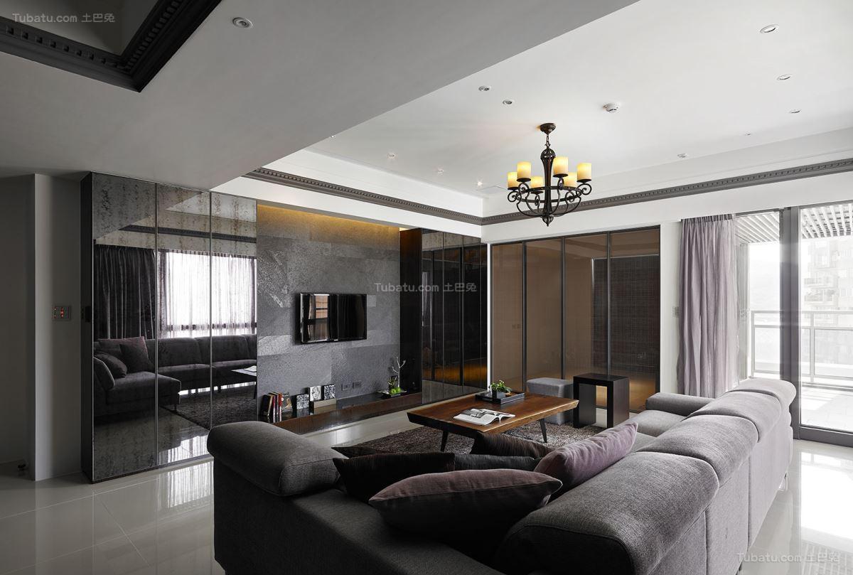 惬意休闲现代风格三居室装修效果图