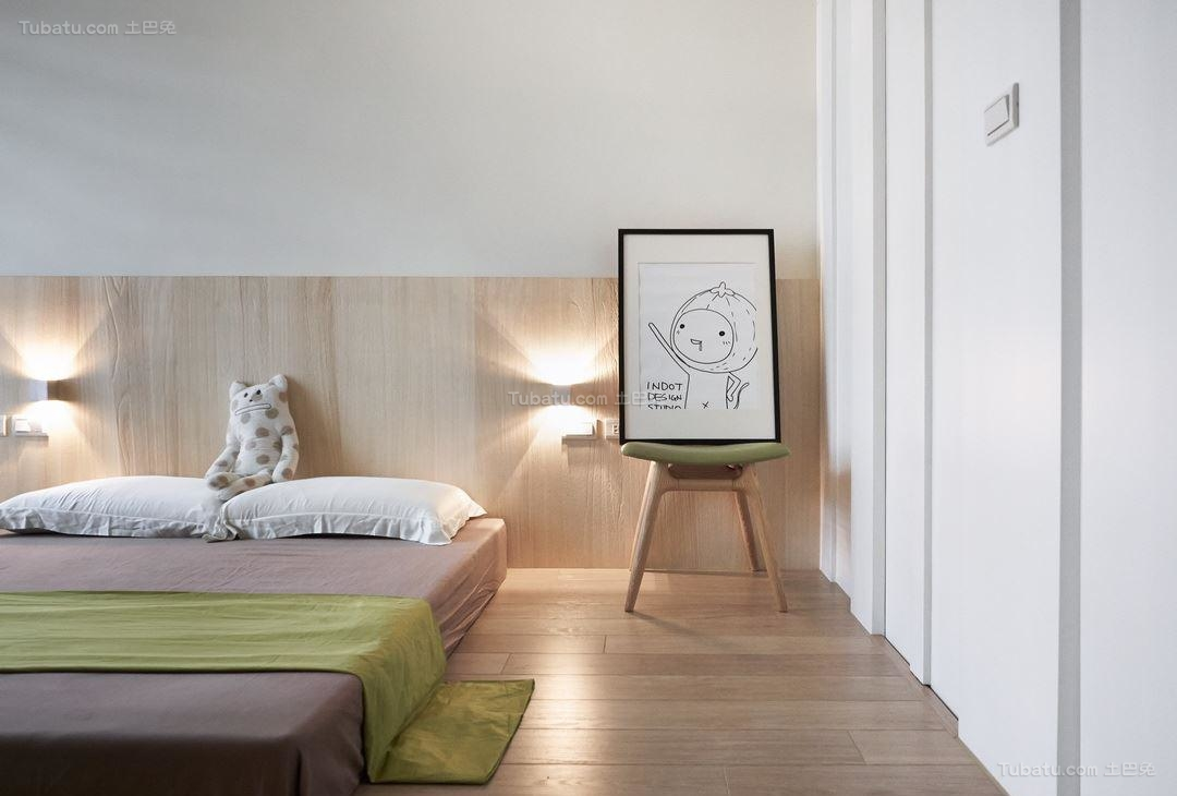 北欧风雅致卧室效果图