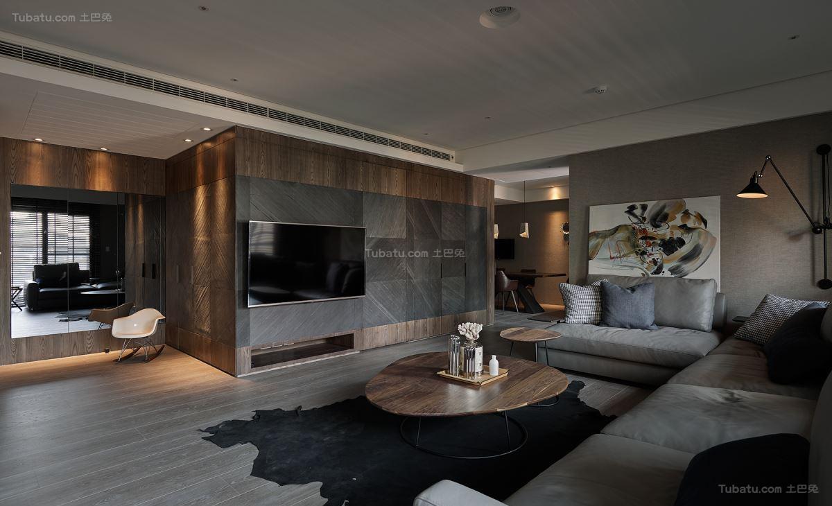 休闲惬意舒适电视背景墙装修效果图