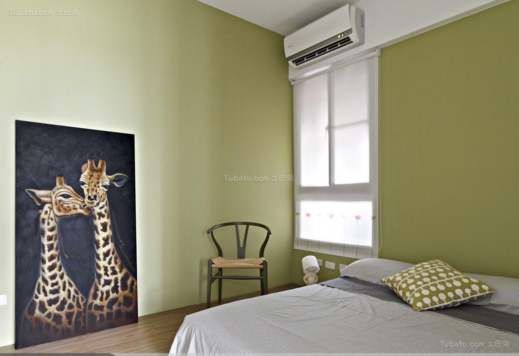 都市时尚个性化次卧窗帘装修效果图