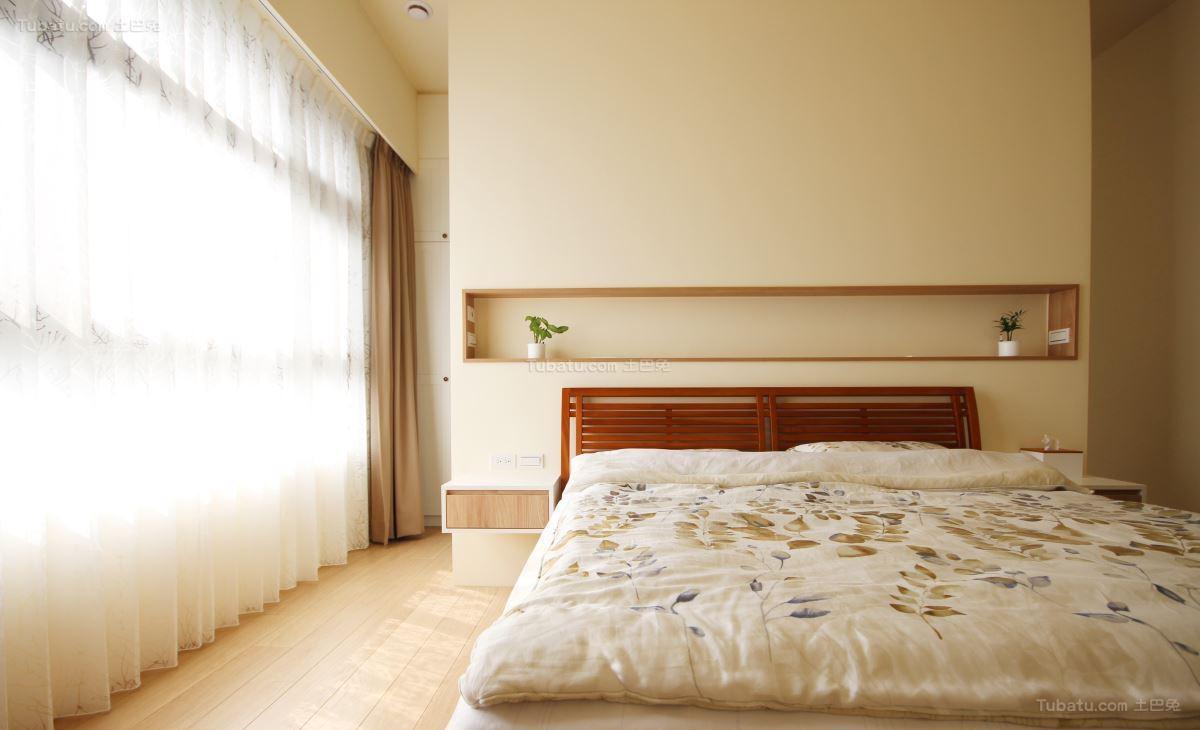 北欧风温馨感主卧室效果图