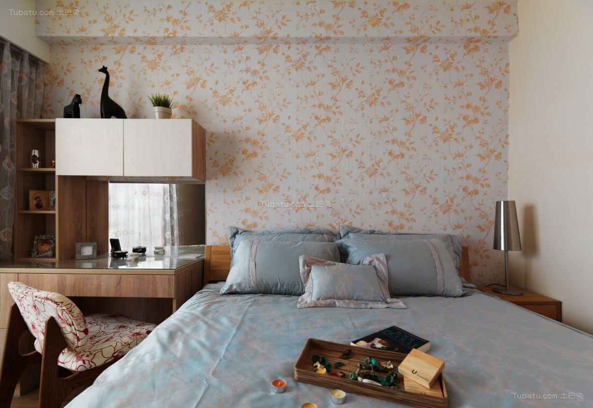 清新雅致的时尚卧室装修效果图