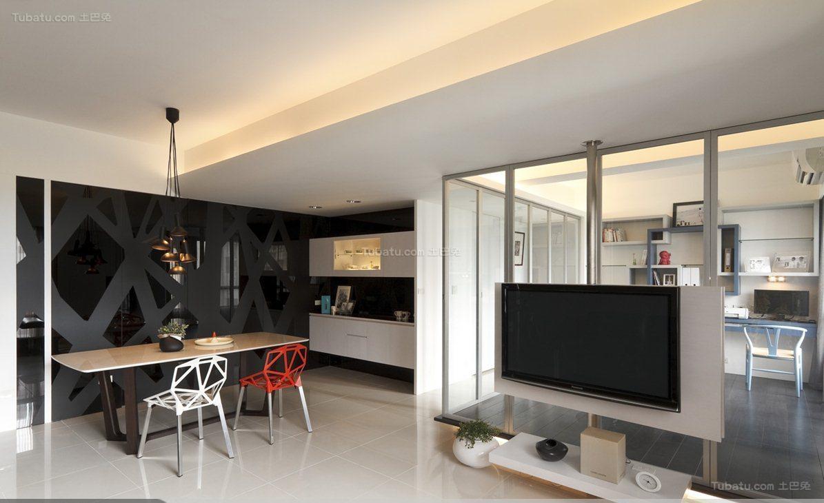 都市时尚个性化三居室装修效果图