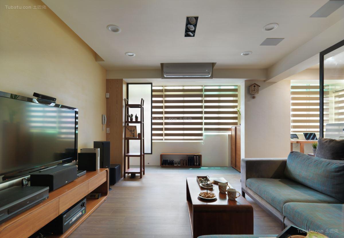 清新雅致的时尚二居室装修效果图