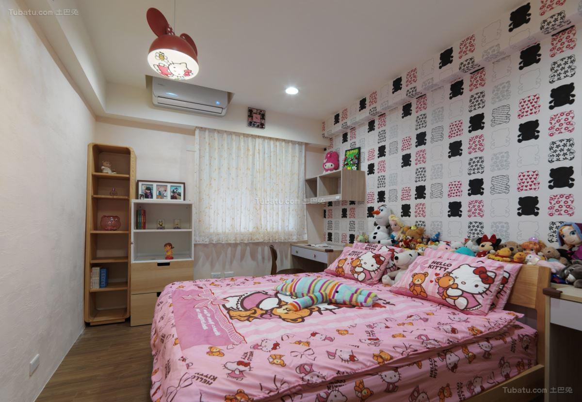 清新雅致的时尚儿童房装修效果图
