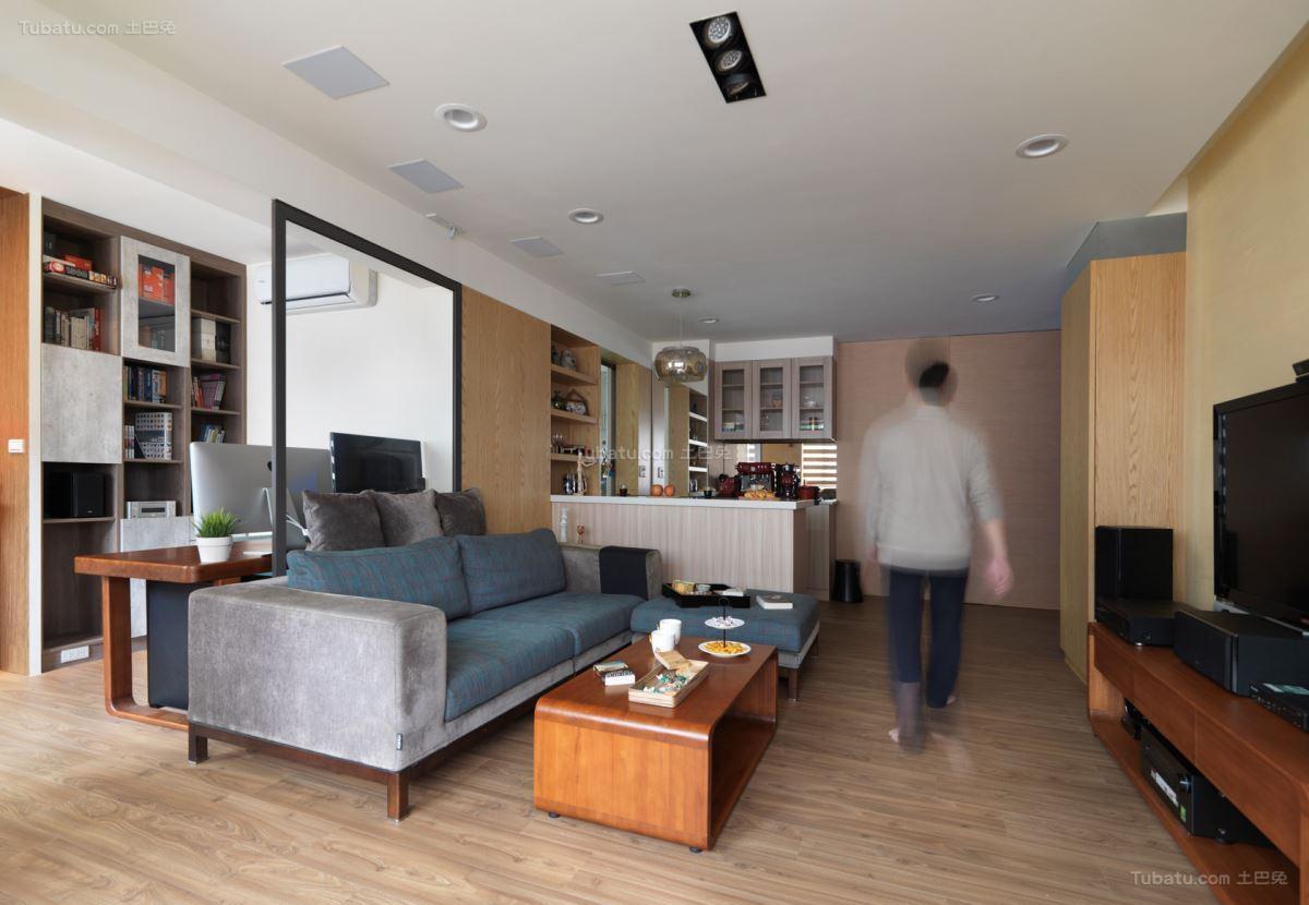 清新雅致的时尚客厅装修效果图