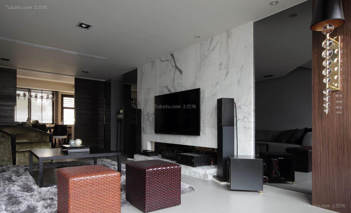 现代风低调感客厅效果图