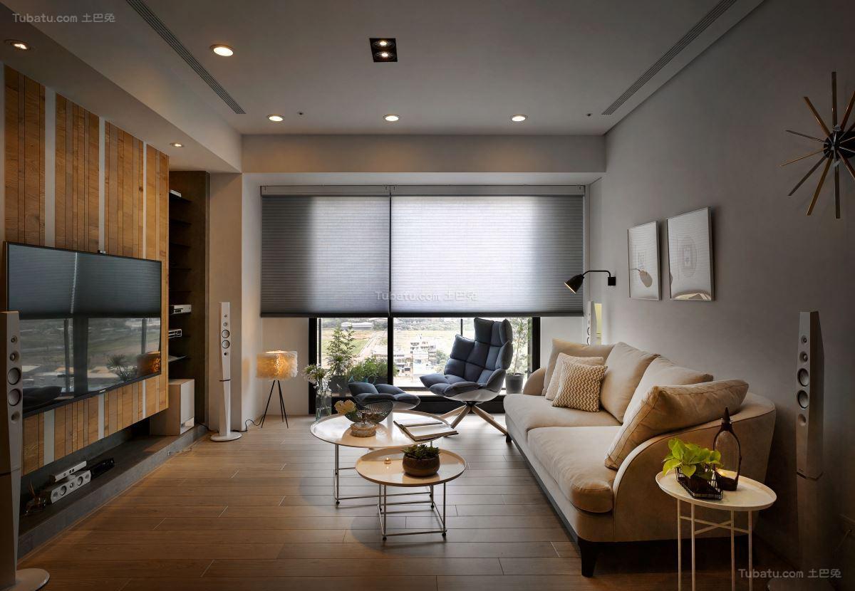 时尚清新北欧风格客厅装修效果图