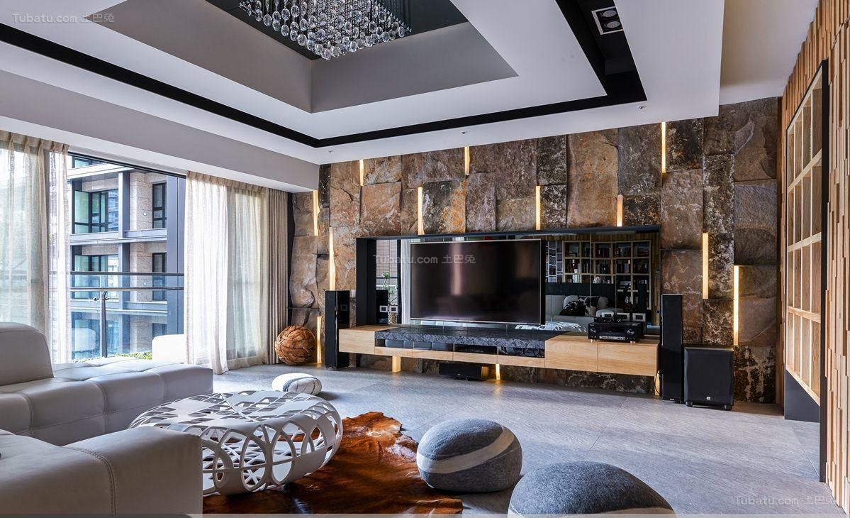 个性别致豪华现代风格大三居装修效果图