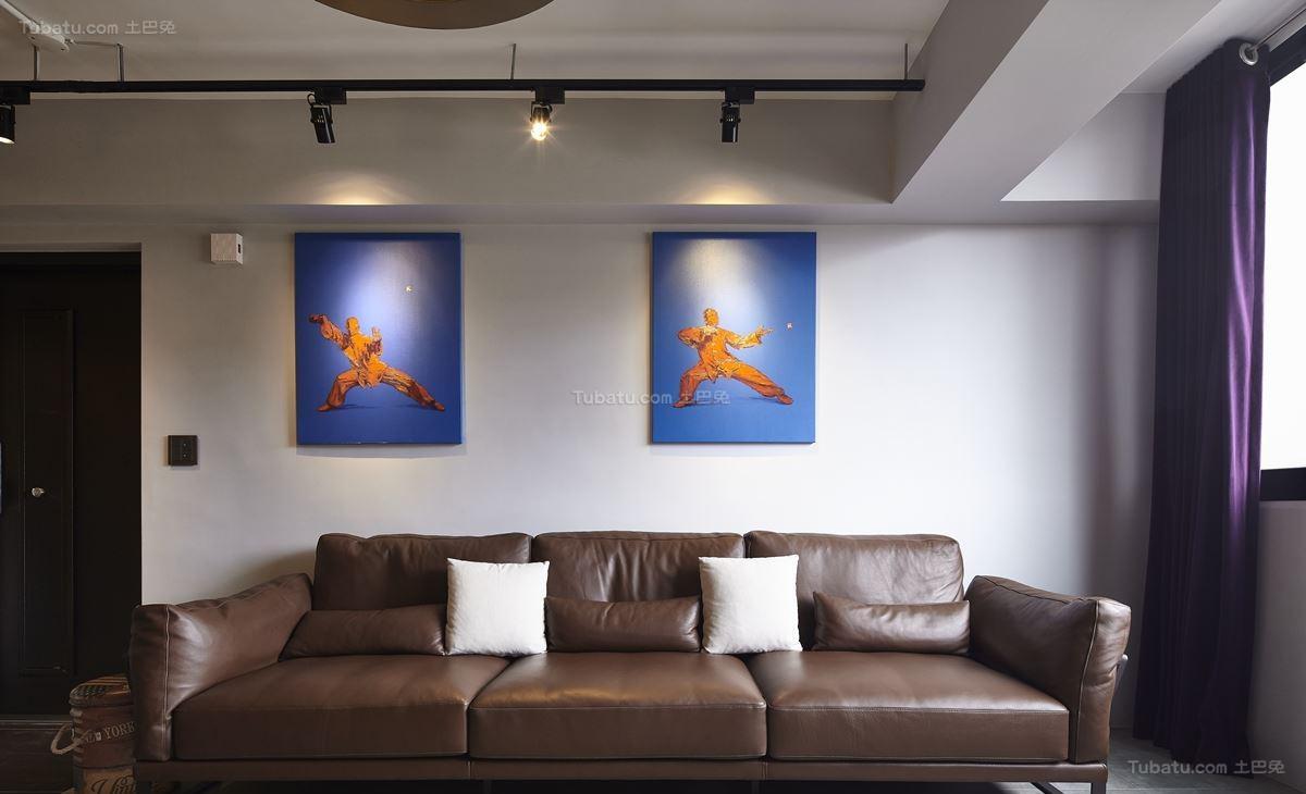 超酷的美式工业风一居室装修效果图
