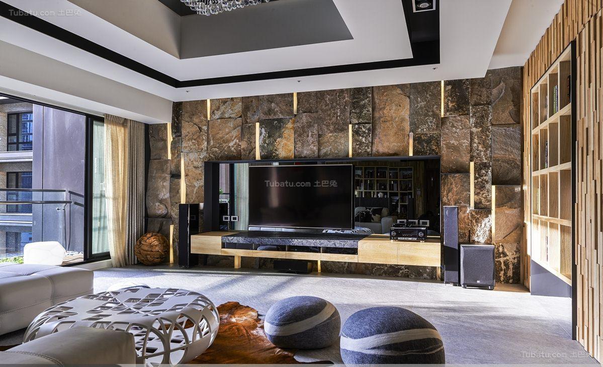 个性别致豪华现代风格电视背景墙装修效果图