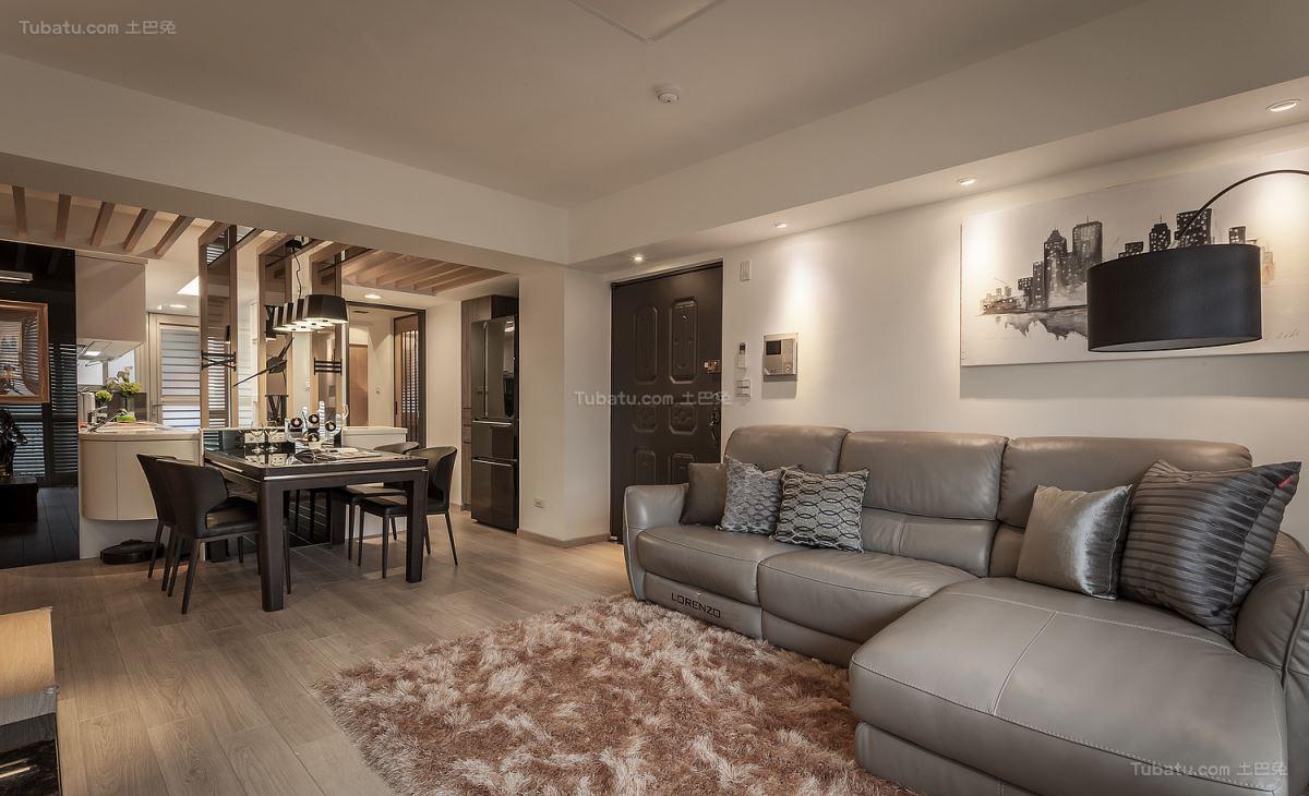 情调雅致现代风格二居室装修效果图