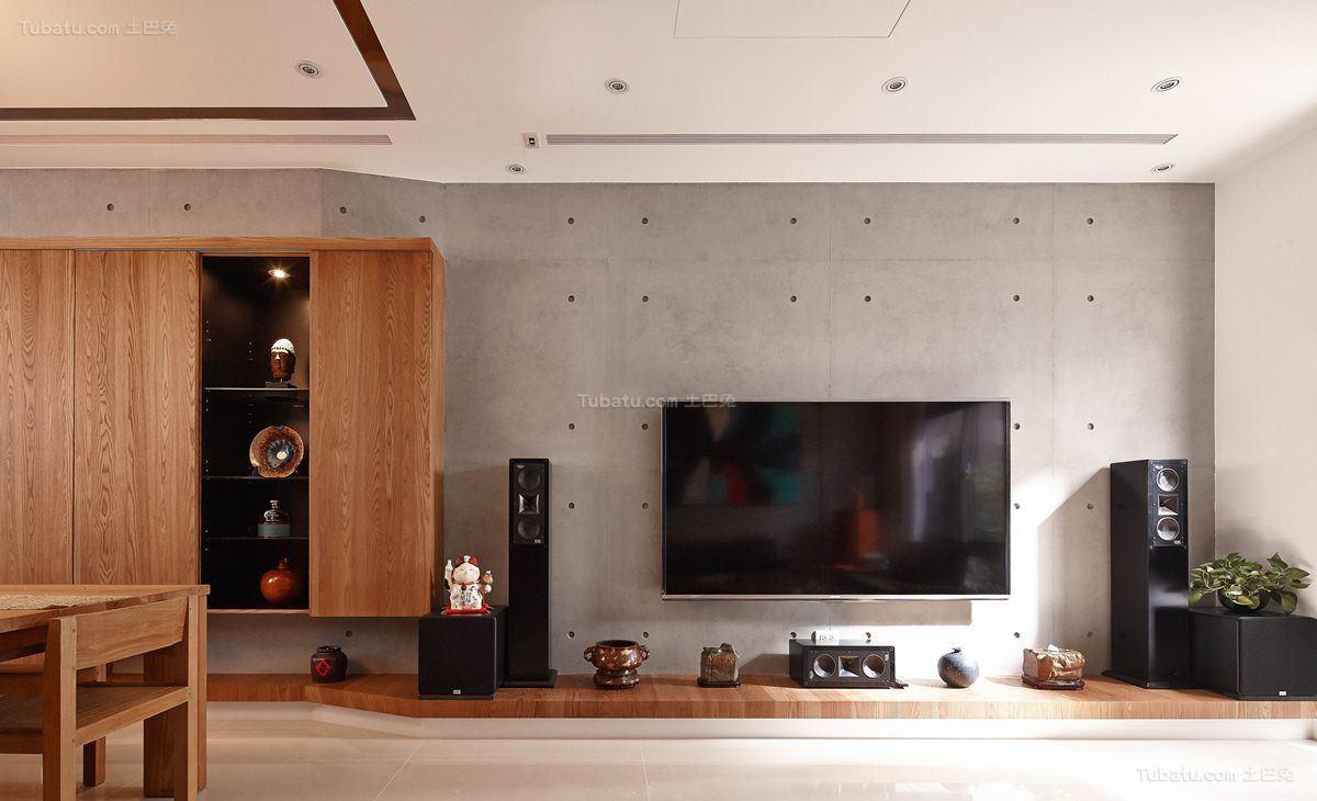 古香古色的中式风格电视背景墙装修效果图