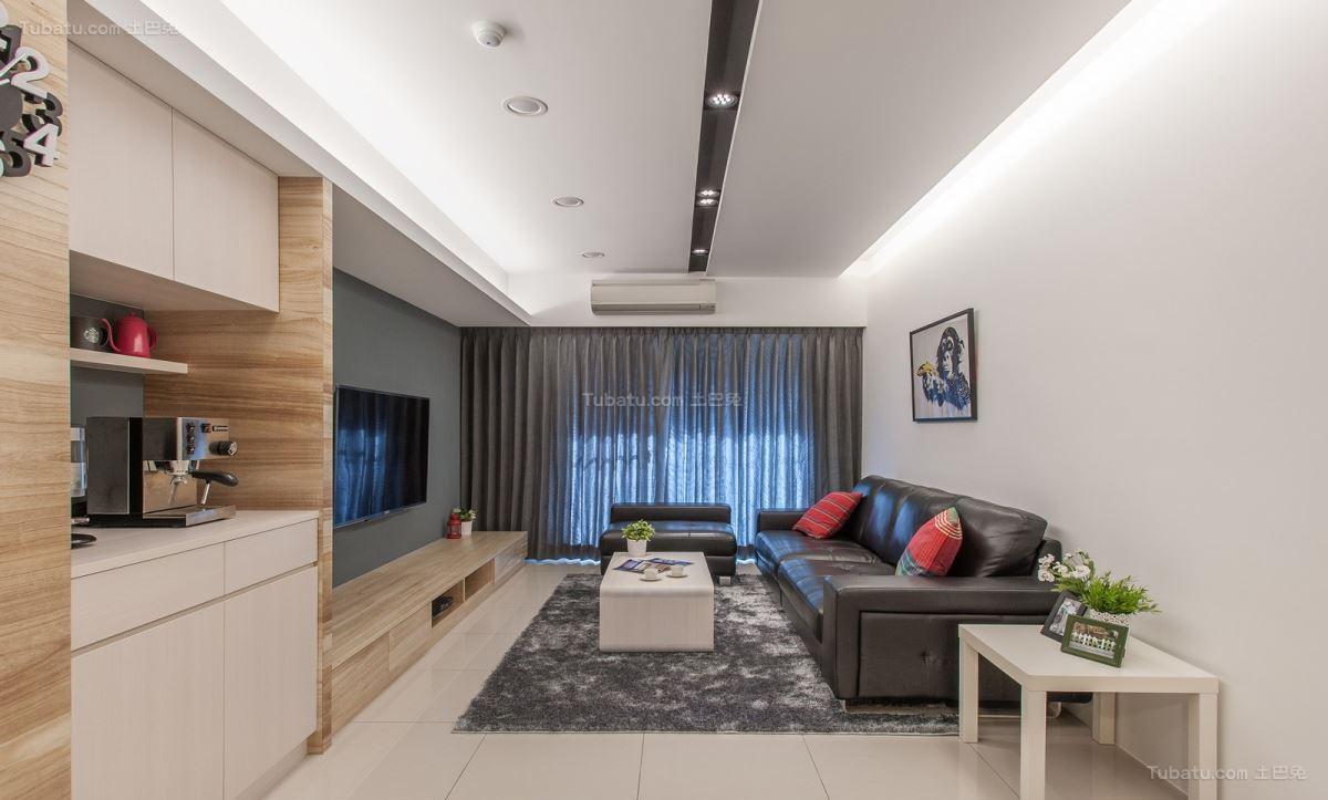 舒适清新休闲现代风格客厅装修效果图