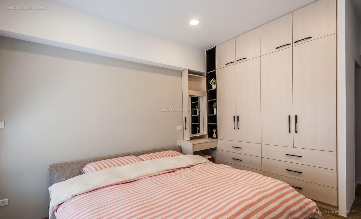 舒适清新休闲现代风格卧室装修效果图