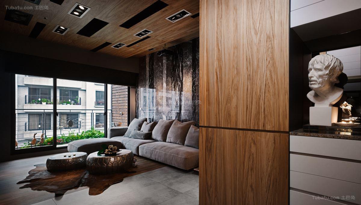 日式禅意静态美客厅图