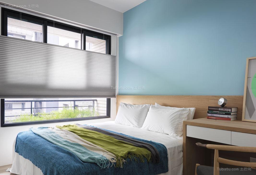北欧风小清新卧室图