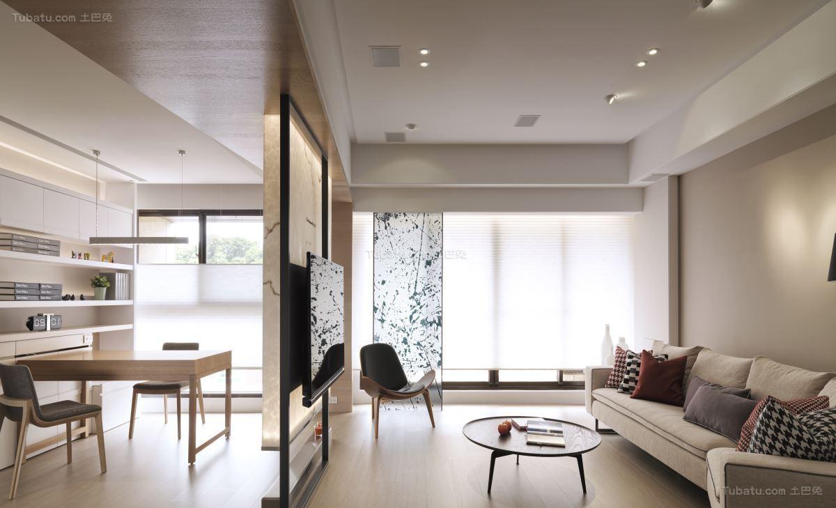 创意时尚北欧风格二居室装修效果图