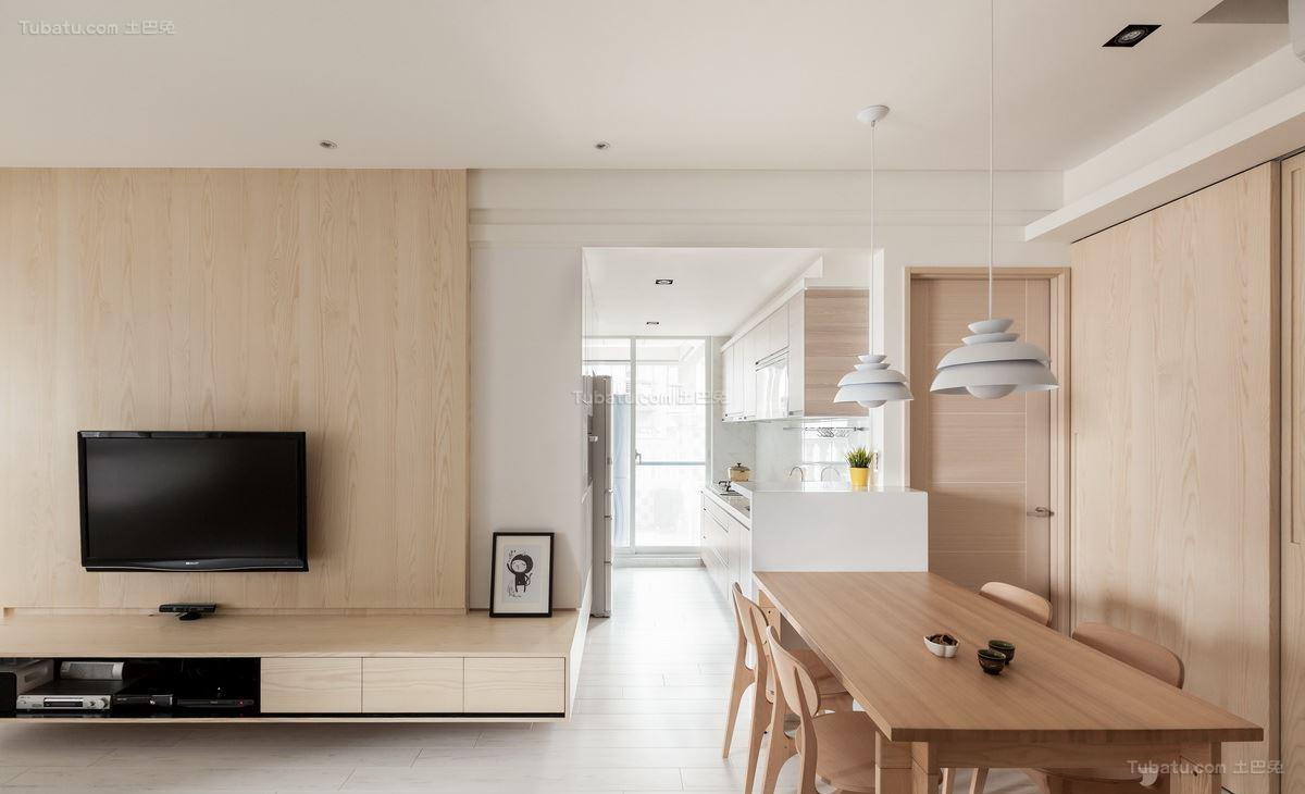 现代清新都市风二居室装修效果图