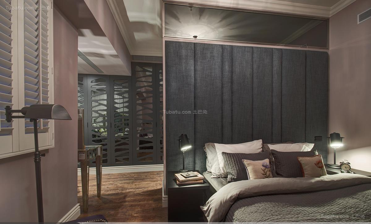 原始个性美式风格卧室隔断装修效果图