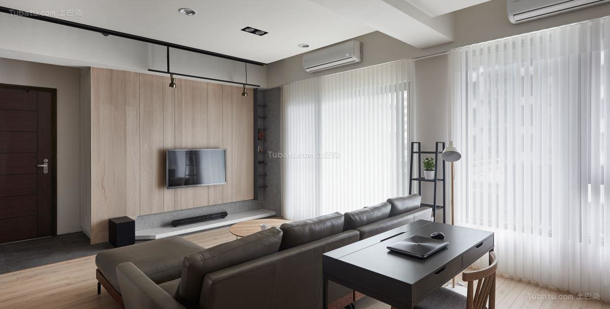 素雅休闲工业风电视背景墙装修效果图