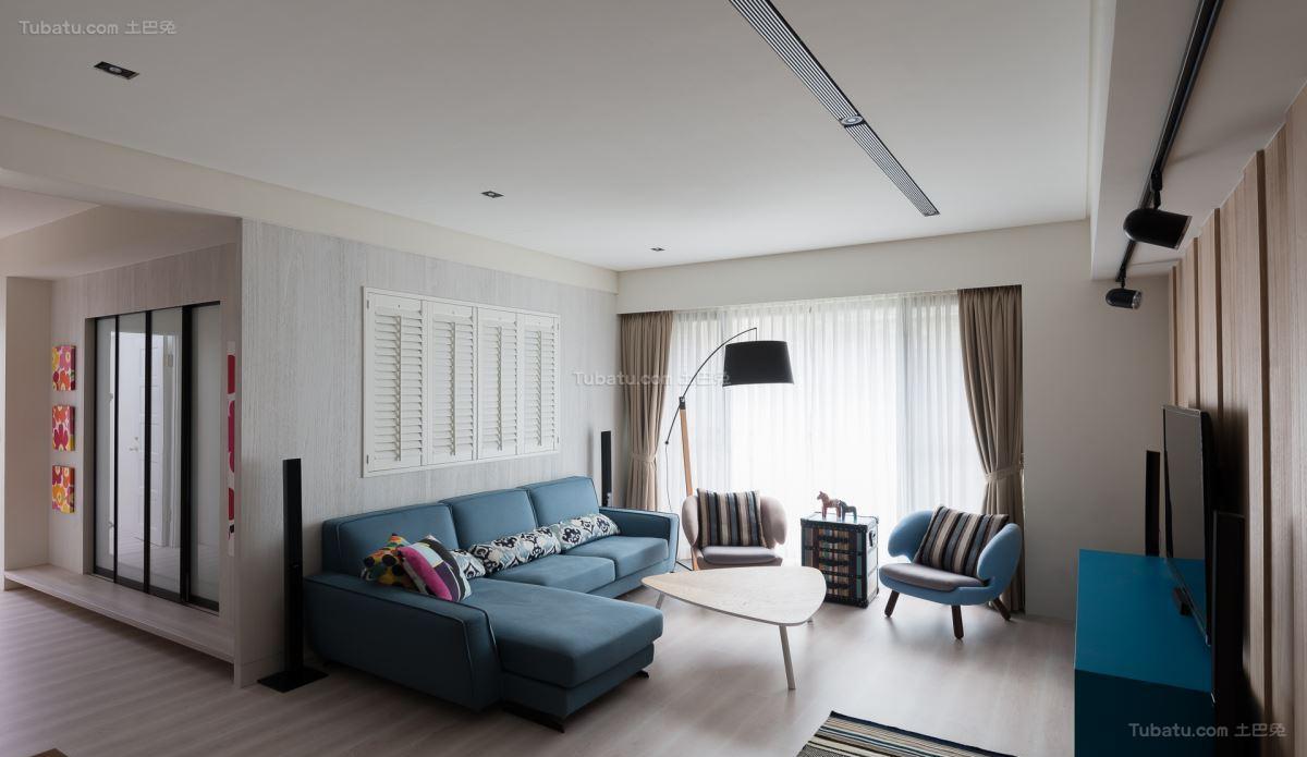 休闲减压北欧风格客厅装修效果图
