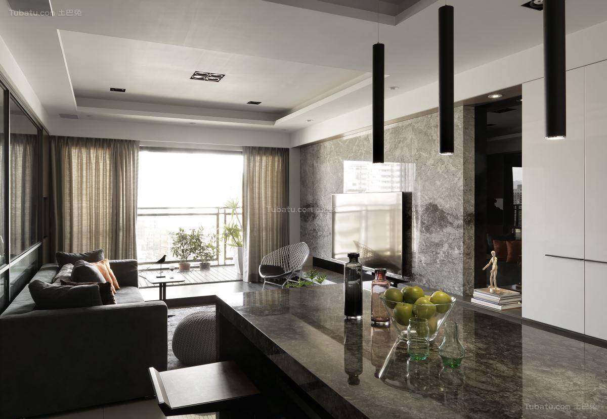 气质时尚现代风三居室装修效果图