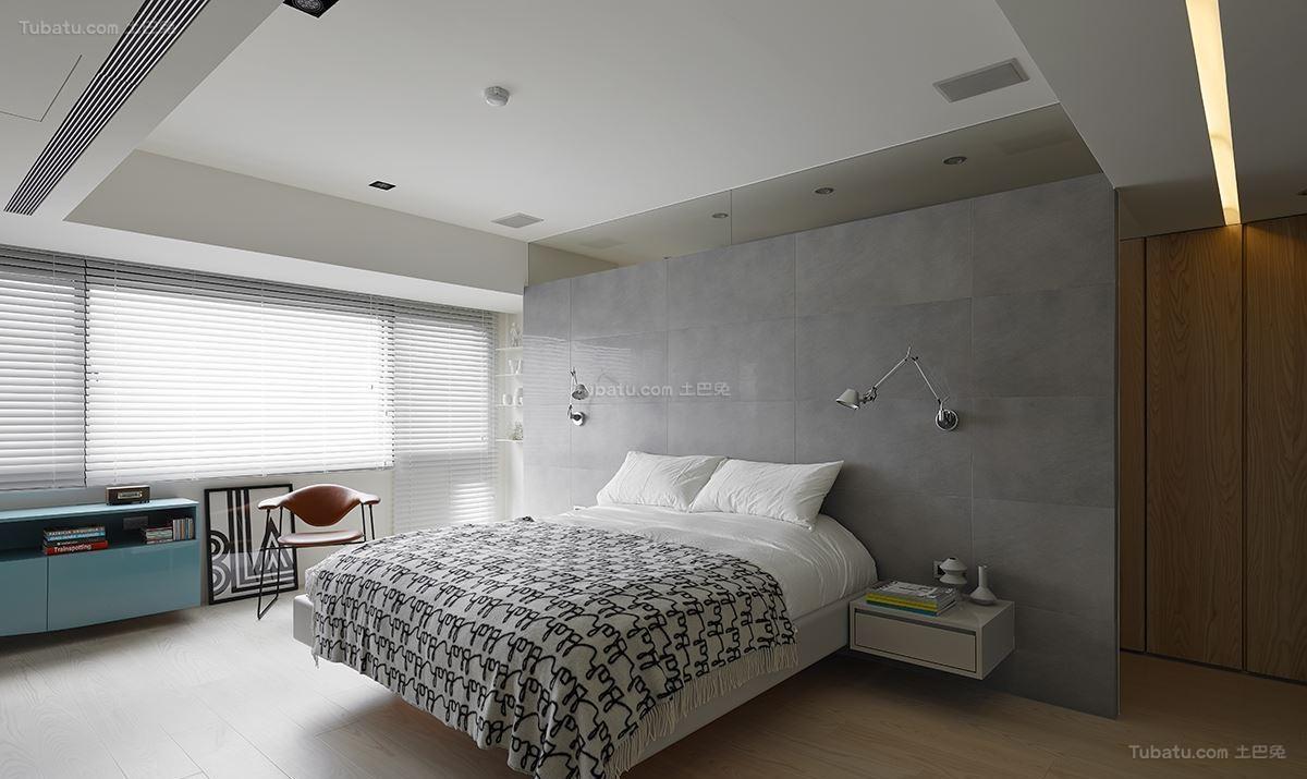 现代大方时尚工业风卧室装修效果图
