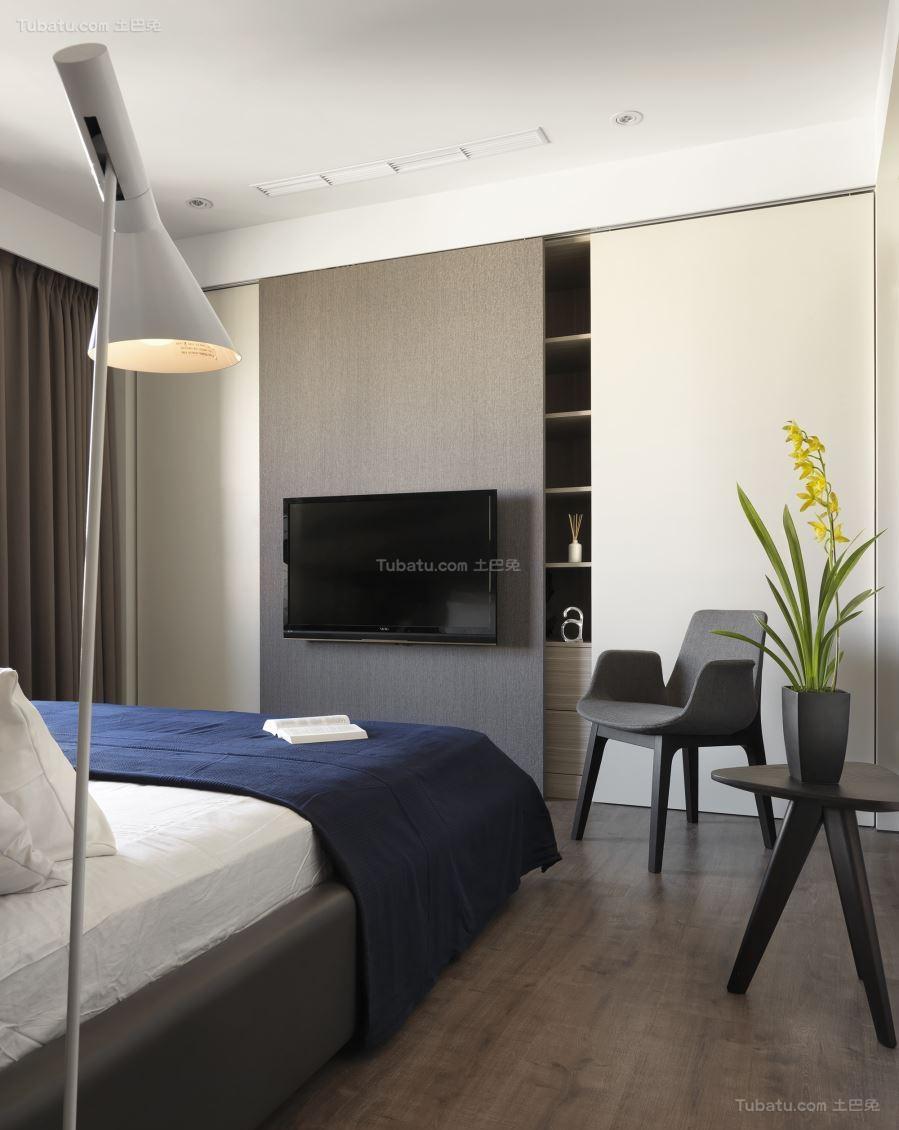 气质时尚现代风卧室电视背景墙装修效果图