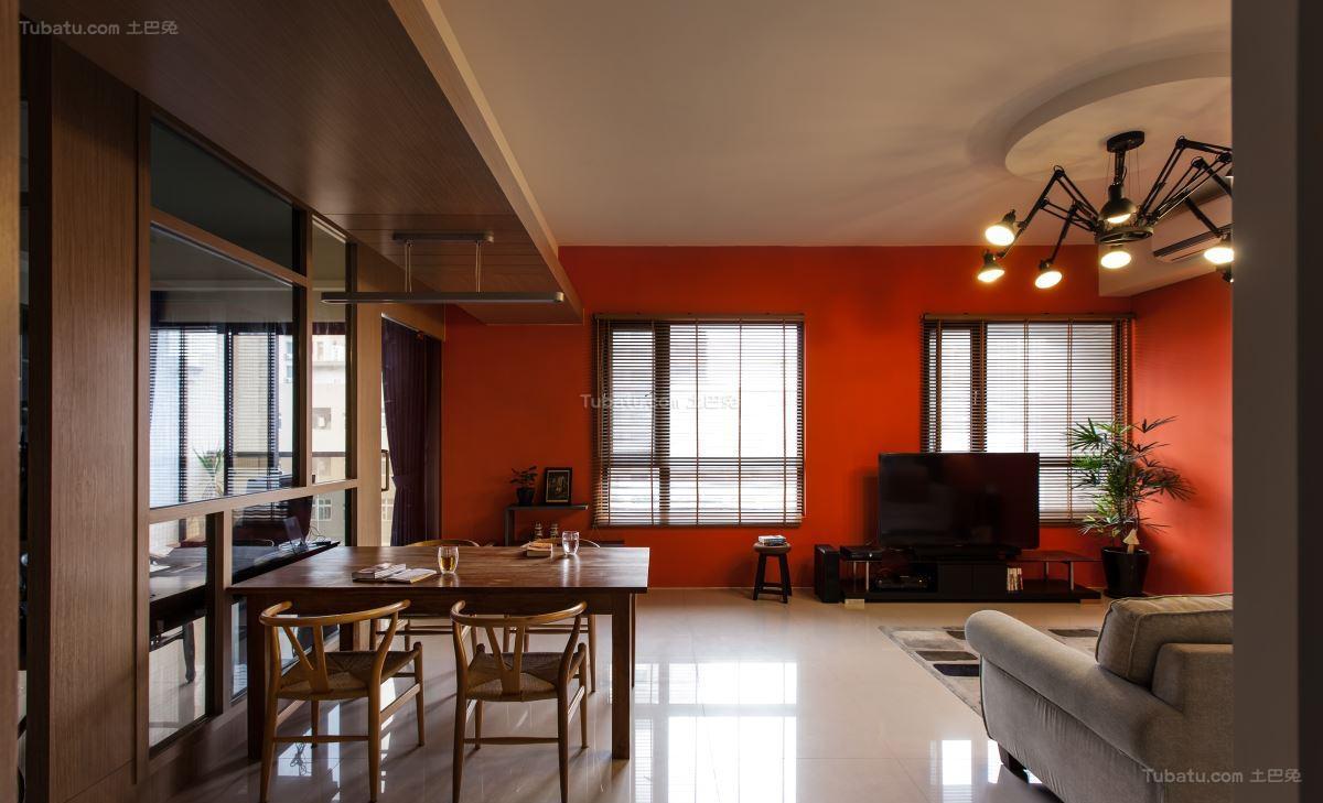 休闲别致中式风格三居室装修效果图