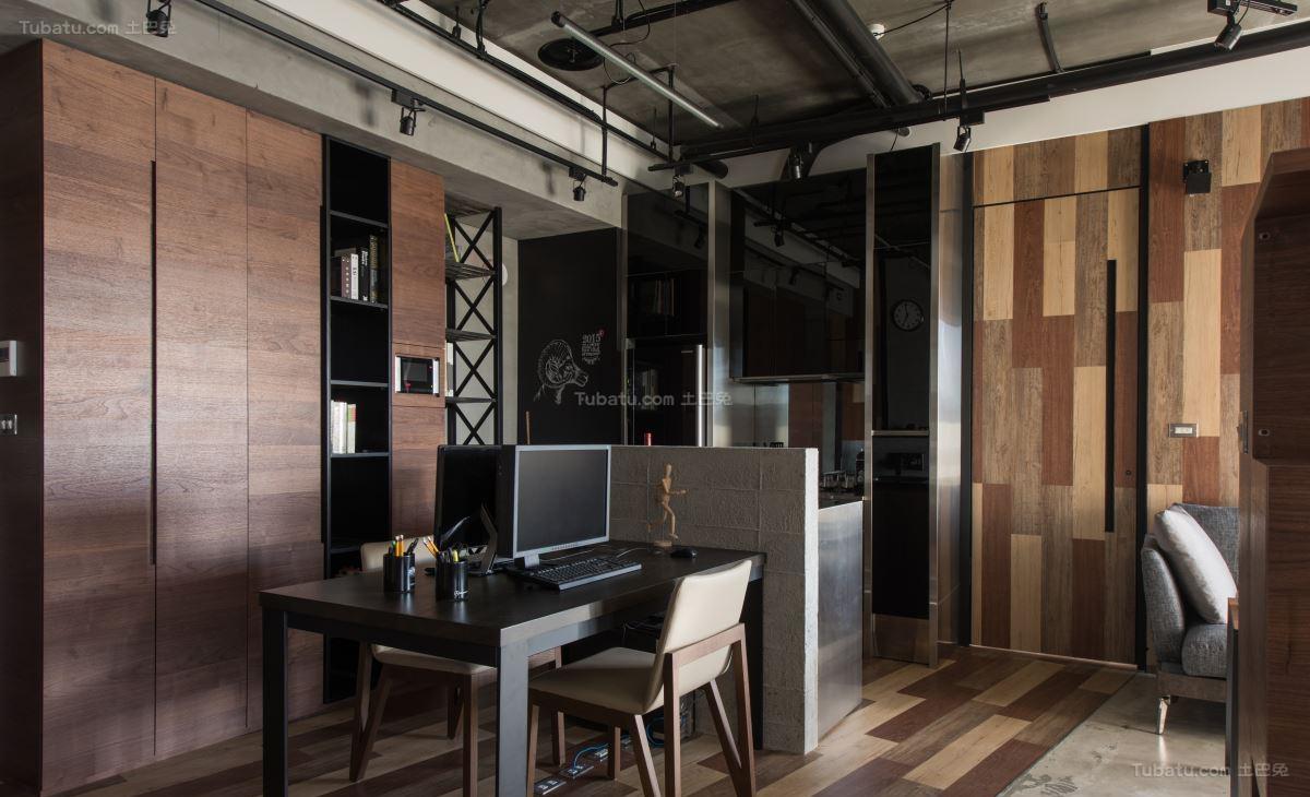 质感家居loft风格隔断书房装修效果图
