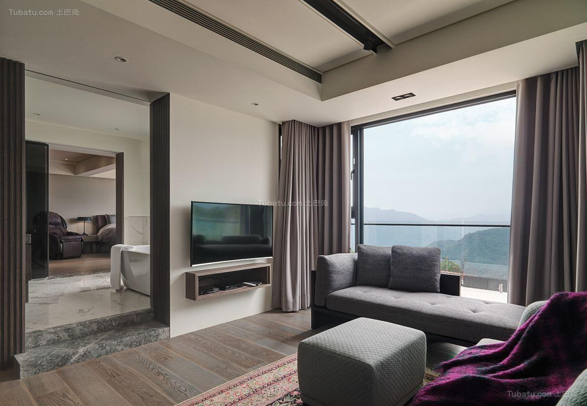 现代气质休闲风电视背景墙装修效果图