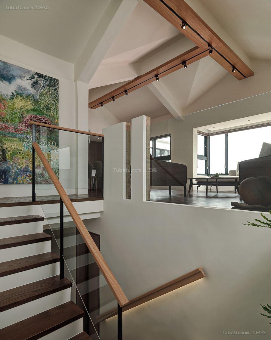 现代气质休闲风楼梯装修效果图