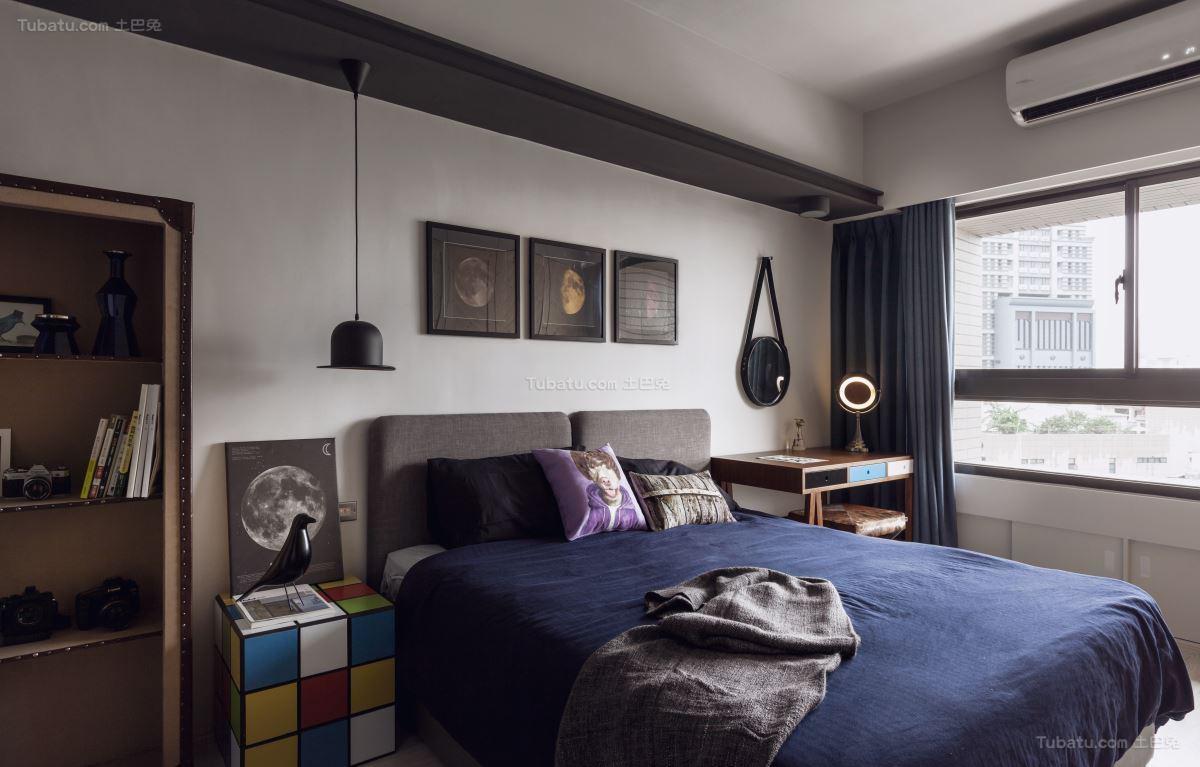 酷酷的美式工业风卧室装修效果图