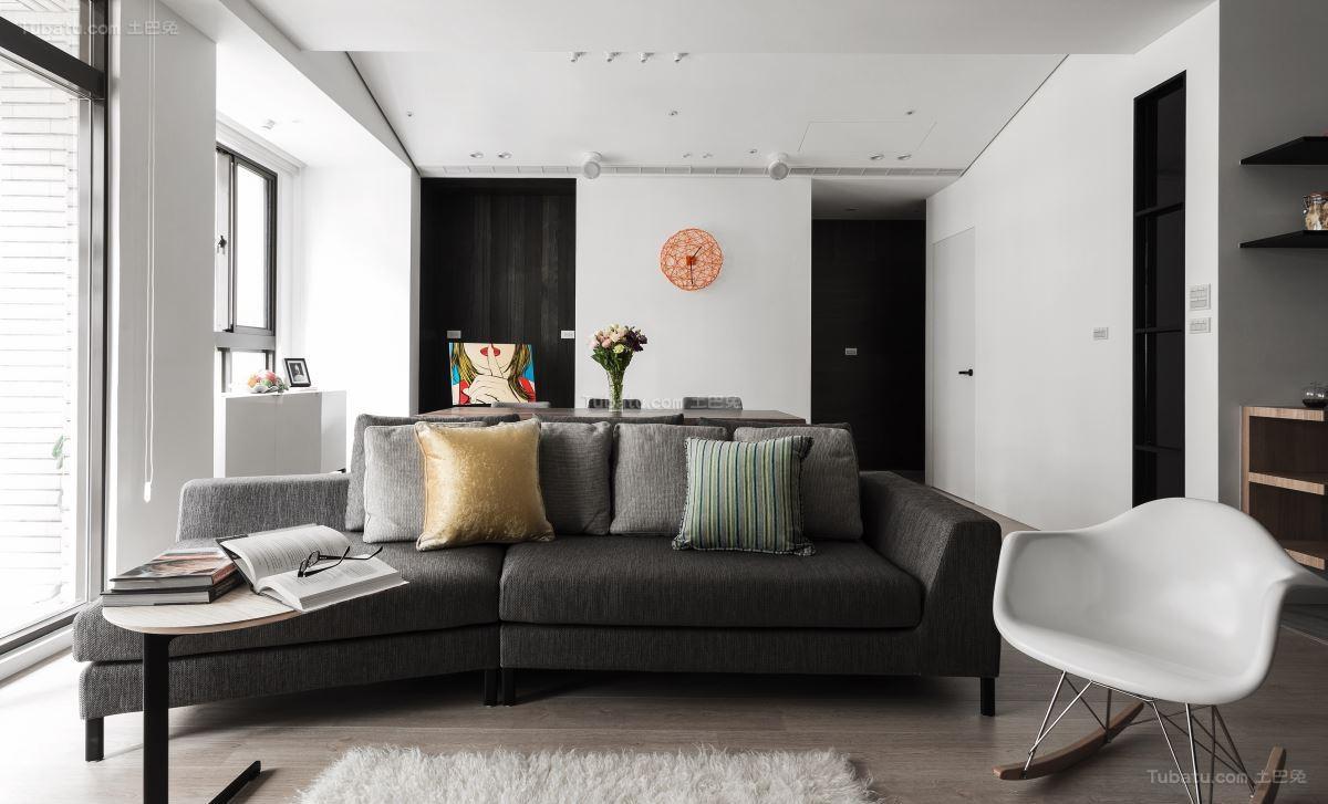 休闲雅致现代风格客厅装修效果图
