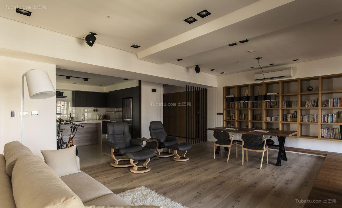 现代风别致性感二居室装修效果图