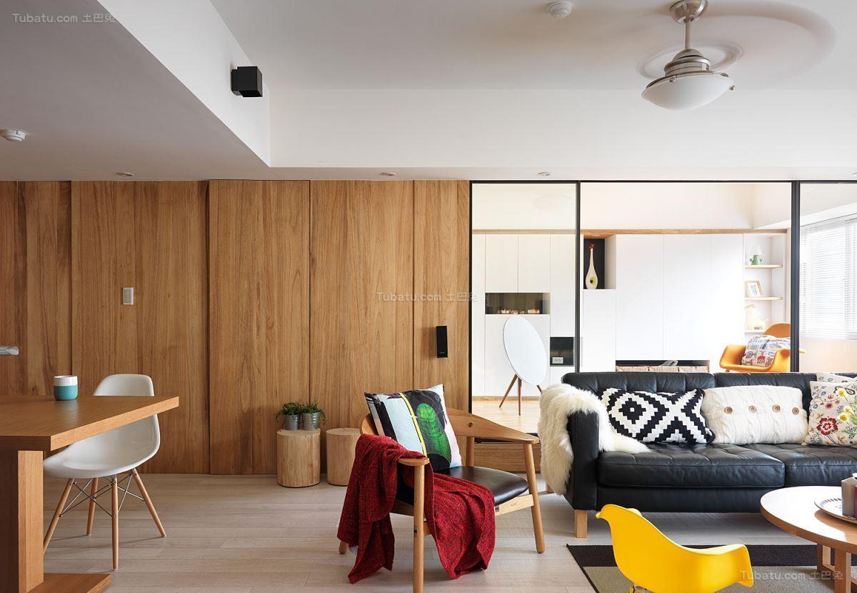 舒适温馨北欧风格二居室装修效果图