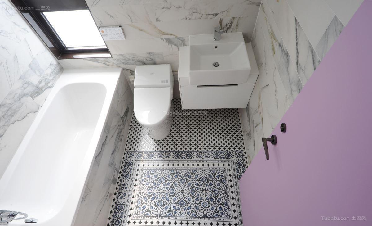 静雅紫色格调卫生间图