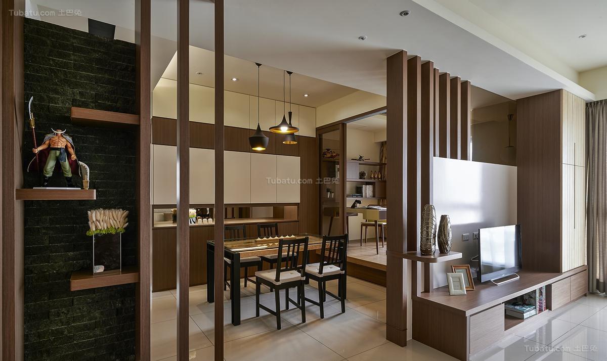 雅韵中式风格四居室装修效果图