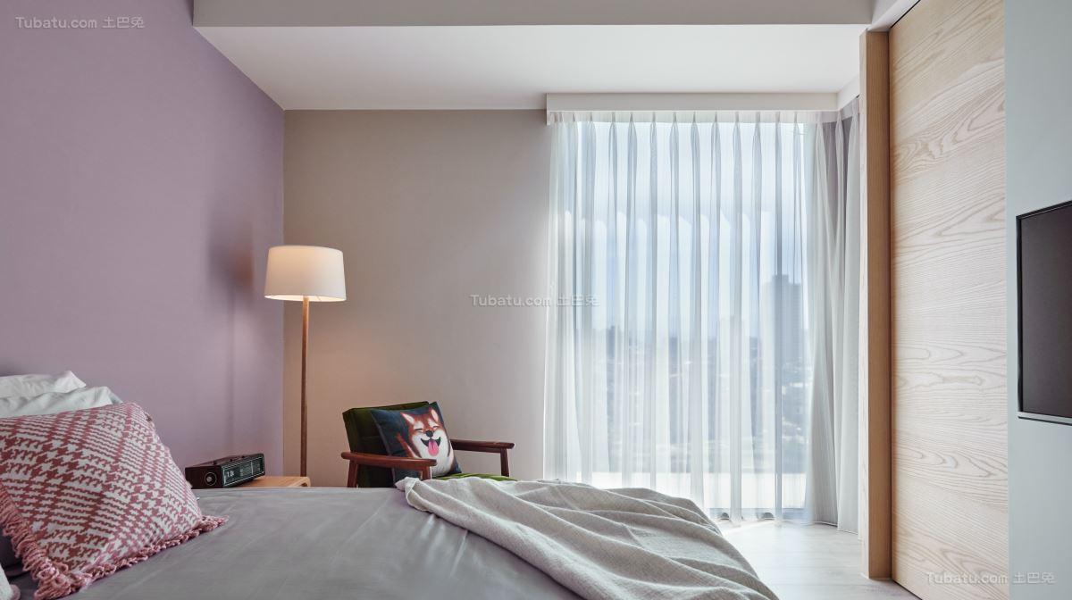 混搭风居家感主卧室图片