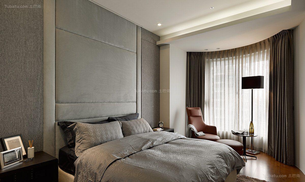 低奢质感现代化次卧装修效果图