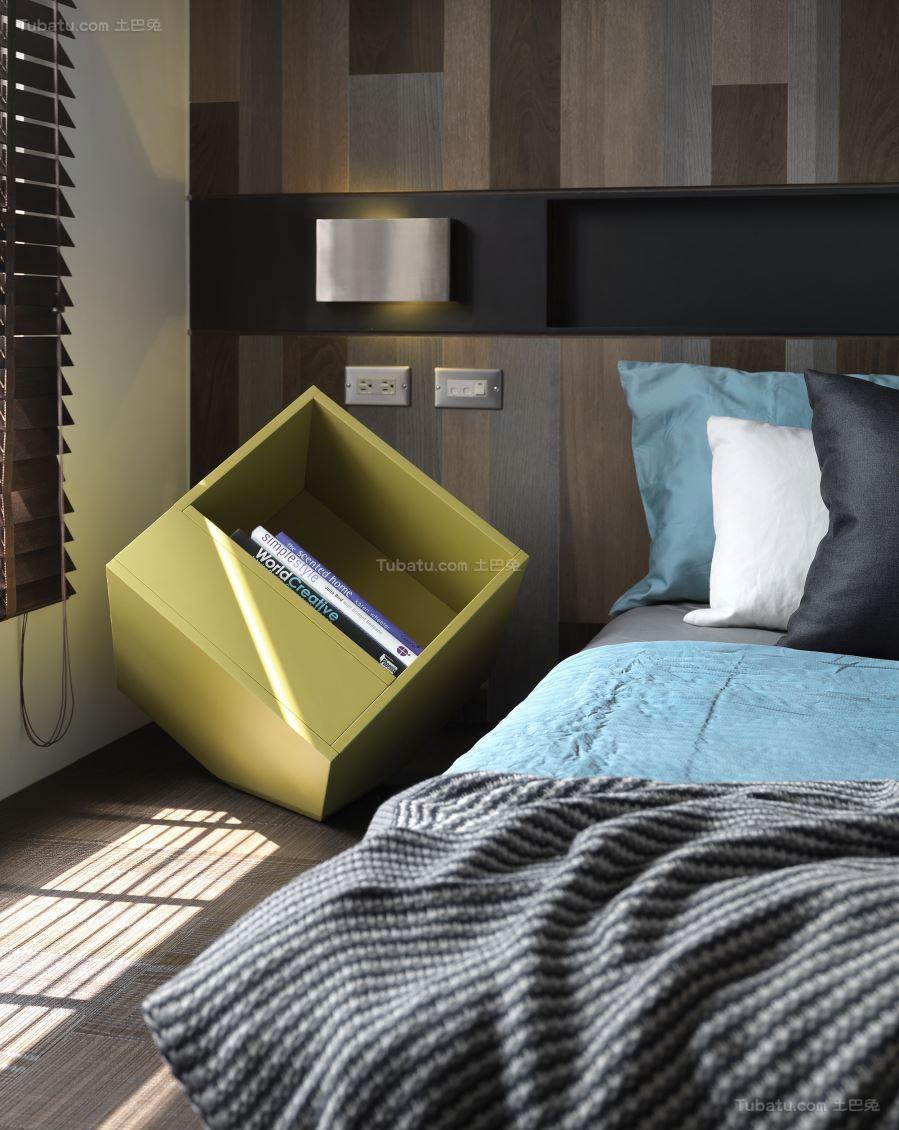 美观休闲现代化床头柜装修效果图