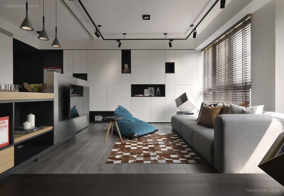 美观休闲现代化客厅装修效果图