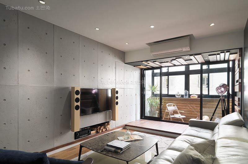 创意色彩搭配现代风电视背景墙装修效果图
