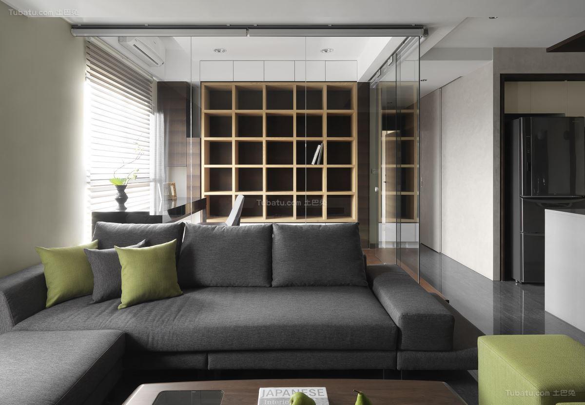 雅致现代风格客厅装修效果图
