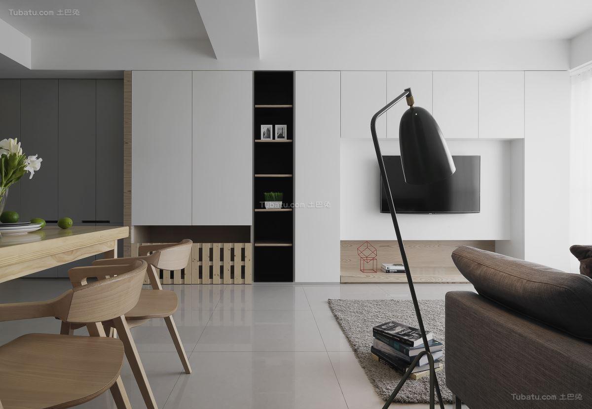 休闲素雅北欧风格二居室装修效果图