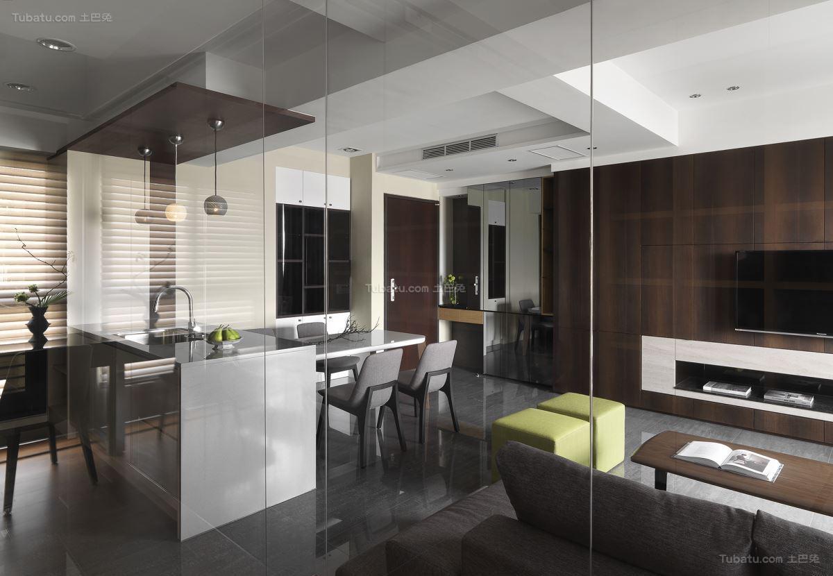 雅致现代风格三居室装修效果图