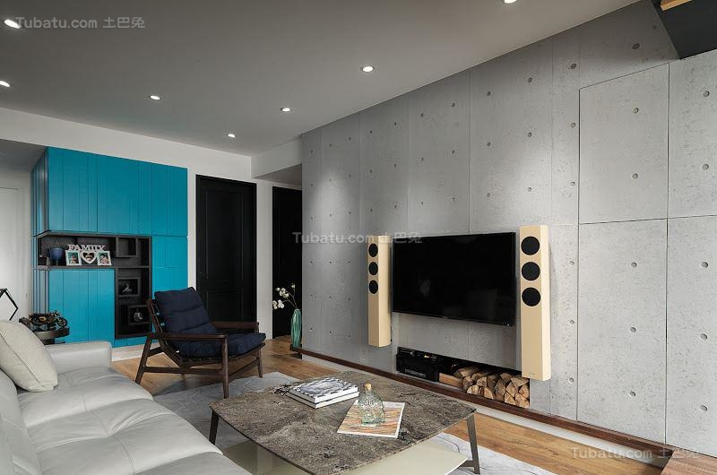 创意色彩搭配现代风二居室装修效果图