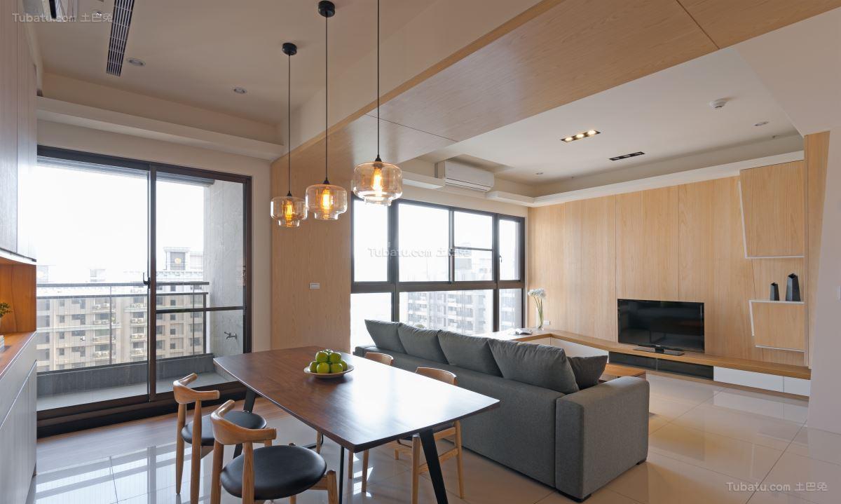 气质现代化三居室装修效果图